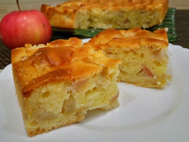 """Классный яблочный пирог """"Ностальгия"""" — с хрустящей сахарной корочкой и сочной начинкой!"""