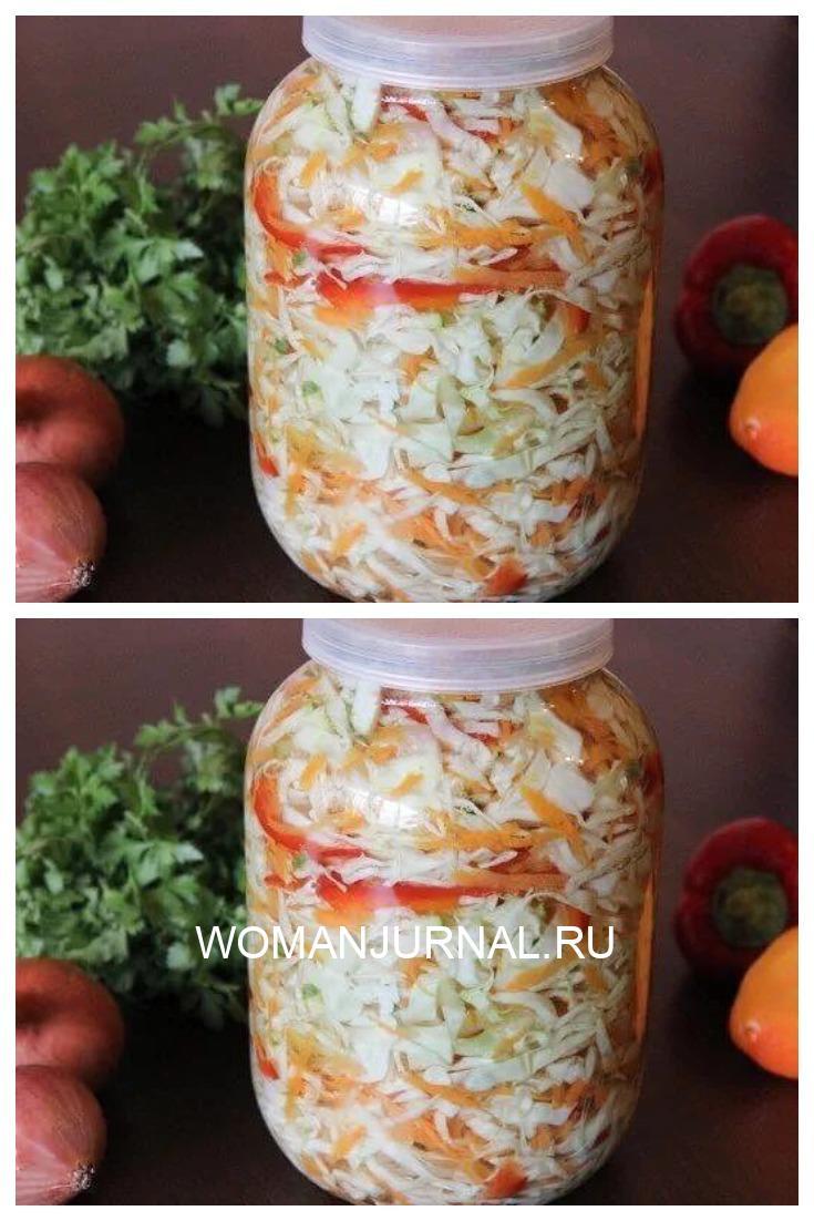 Салат капустный (в горячем маринаде)