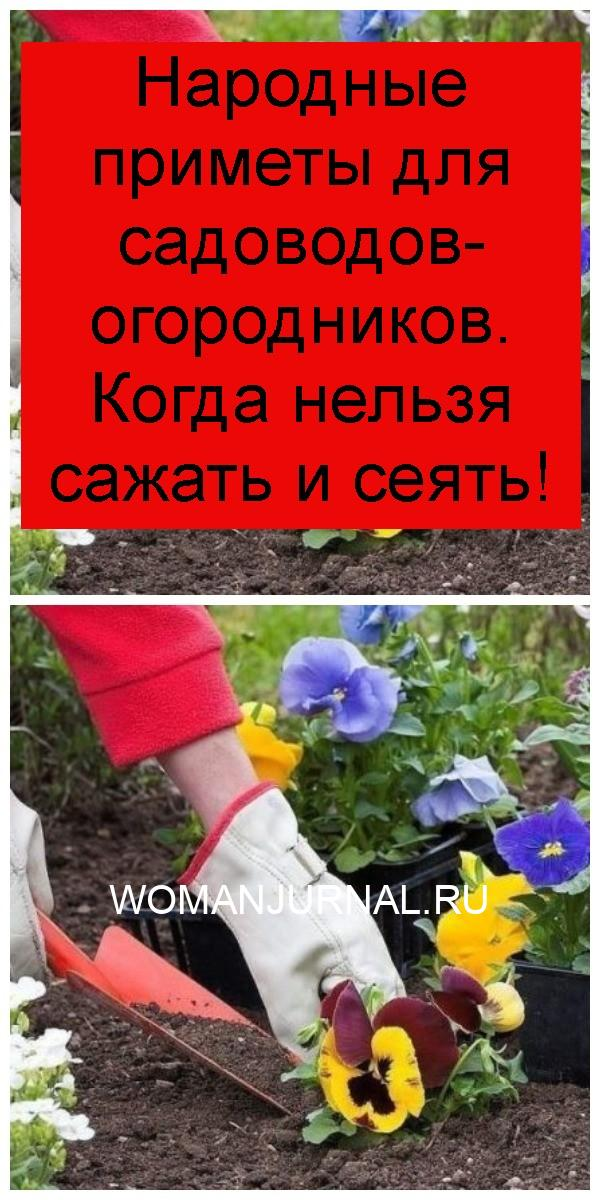 Народные приметы для садоводов-огородников. Когда нельзя сажать и сеять 4