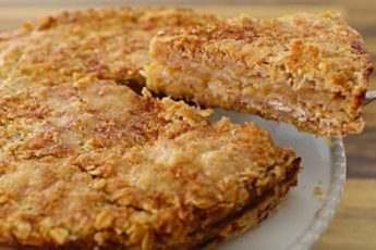 Яблоки + овсяные хлопья — лучший осенний пирог 1