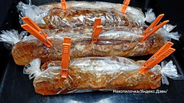 Беру свиную брюшину, рукав для запекания, прищепки и готовлю деликатес на праздничный стол 1