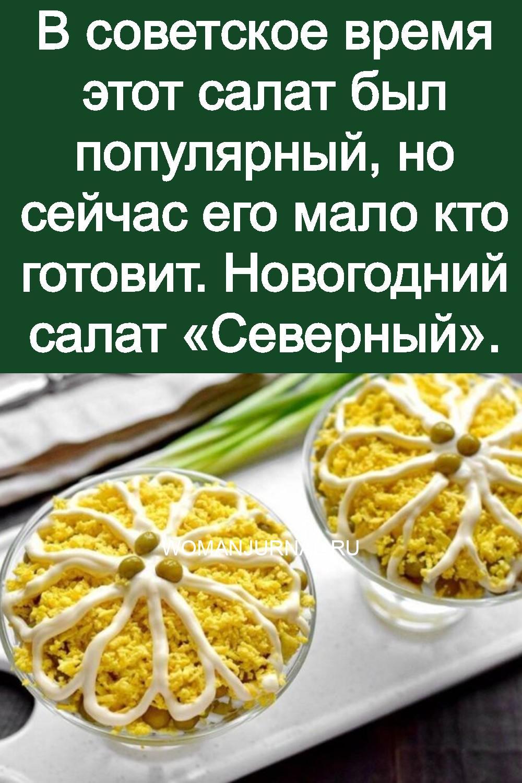 В советcкое время этот салат был популярный, но сейчас его мало кто готовит. Новогодний салат «Северный» 3
