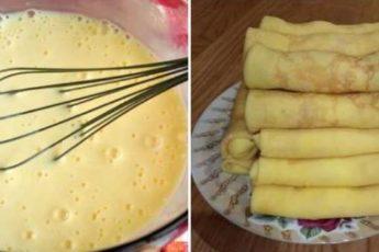 Рецепт вкусных блинчиков на молоке по бабушкиному рецепту 1